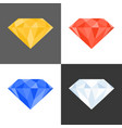 3d diamond iconmultiple colours vector image