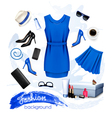 Collage of fashion female accessories vector image vector image
