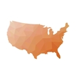 Low poly map of USA vector image