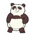 comic cartoon panda vector image