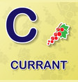 currant alphabet background vector image