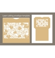 envelope template for laser cutting vector image