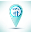 glossy web icon restaurant design element on a vector image