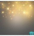 gold glitter wave gold star dust trail sparkling vector image