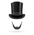Invisible man in top hat vector image