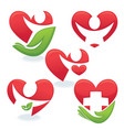 love and health vector image