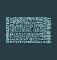 nature gas industry relative words vector image