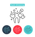 professional teeth whitening image healthy tooth vector image