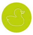 rubber ducks isolated icon vector image
