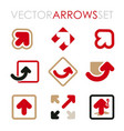 set of flat arrows for branding and icons vector image