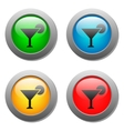 Wine glass simple icon on buttons set vector image