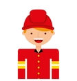 firefighter man profession icon vector image