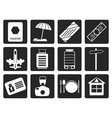 Black Travel Holiday and Trip Icon vector image