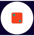 dice 2 computer symbol vector image