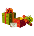 Christmas gifts boxes vector image