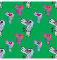 Seamless pattern of doodle cartoon vector image