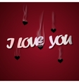 I love you Cupid shoots bullets of hearts vector image