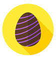 Easter Egg with Line Decor Circle Icon vector image