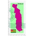 mail to-from Togo vector image vector image