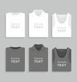 Folded t-shirts set vector image