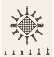Chess piece vector image vector image