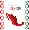 viva mexico map decoration confetti vector image