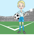 football soccer player vector image