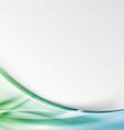 Transparent modernistic green swoosh wave folder vector image