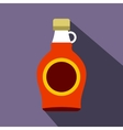 Bottle of maple syrup icon flat style vector image