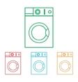 Washing machine sign vector image
