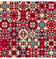 Seamless Geometric Blocks Quilt Pattern vector image
