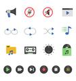 Color icon set - audio vector image