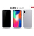 new model iphone x vector image