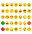 pixel emoji set vector image