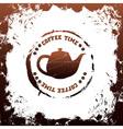 tea time template vector image
