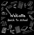 welcome back to school black board vector image