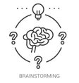 Brainstorming line infographic vector image