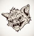 Head bat vector image vector image