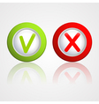 yes and no buttons vector image vector image