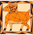 Chinese horoscope stylized stained glass ram vector image