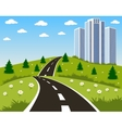 Road to a city vector image