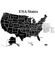 USA map with states vector image