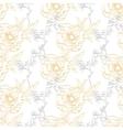 Gold Gray Drawing Peony Floral Diagonal vector image