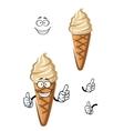 Cartoon caramel ice cream dessert vector image vector image