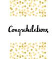 Congratulations Calligraphy Congratulations vector image vector image