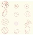 Sport icons line design vector image