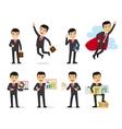 Cartoon businessman poses vector image vector image