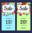 hand drawn sweets vertical sale banner vector image