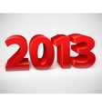New year 2013 shiny 3d red vector image