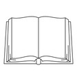opened book icon outline style vector image